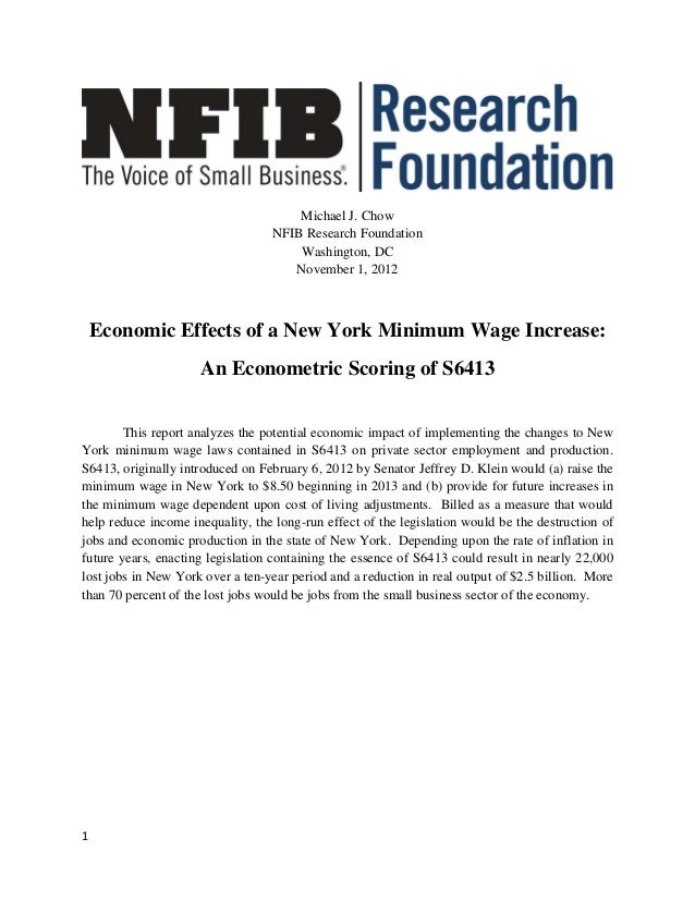 Michael J. Chow                                  NFIB Research Foundation                                      Washington,...