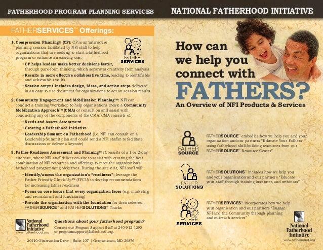 Fatherhood Program Planning Services                                              national fatherhood initiativeFATHERSERV...
