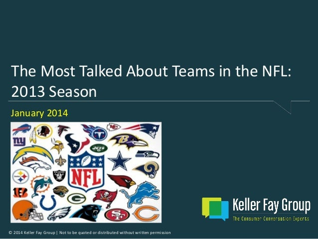 The Most Talked About Teams in the NFL: 2013 Season January 2014  © 2014 Keller Fay Group | Not to be quoted or distribute...