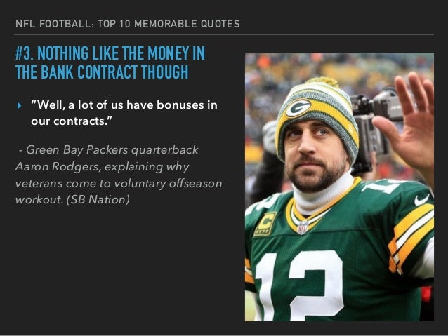 Nfl S Top 10 Memorable Quotes From Players And Coaches