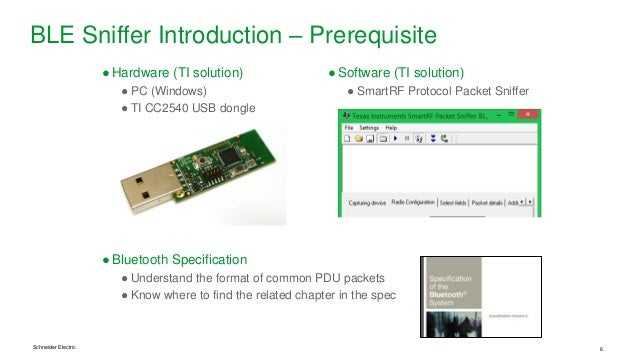 Bluetooth LE product debugging 1 - sniffer introduction and demo