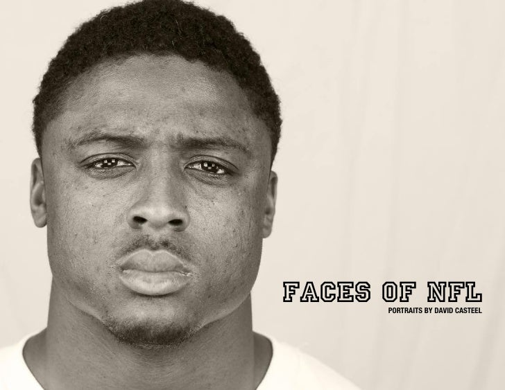 FACES OF NFL       PORTRAITS BY DAVID CASTEEL