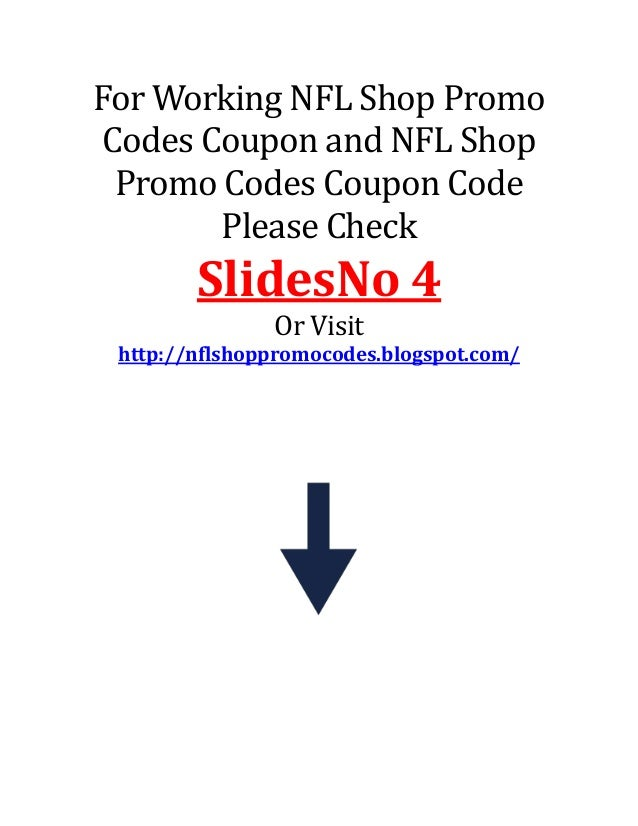 Nfl shop discount coupon codes