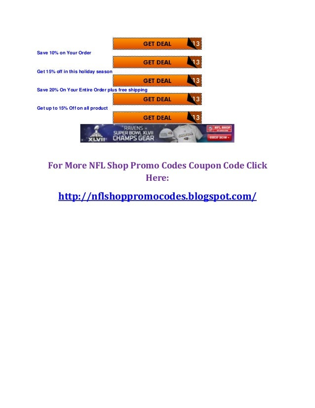 Nfl shop coupon codes