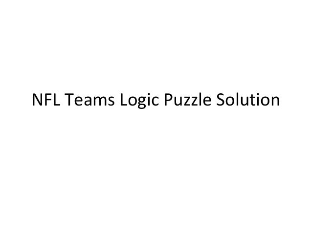 NFL Teams Logic Puzzle Solution