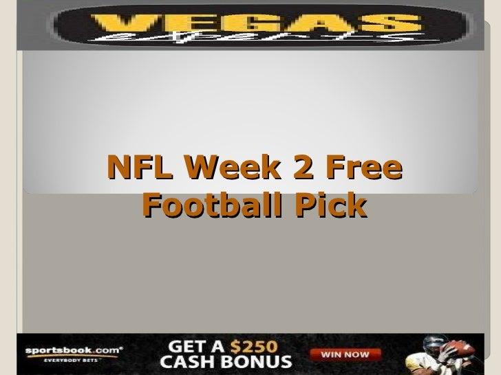 NFL Week 2 Free Football Pick