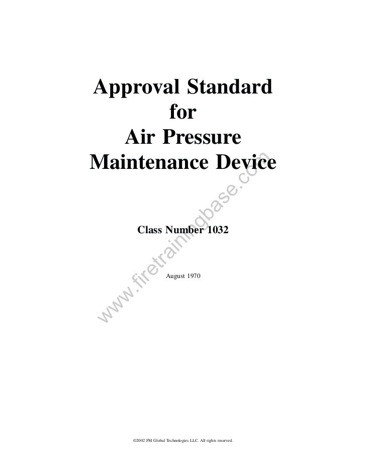 Approval Standard        for   Air PressureMaintenance Device                                                         om  ...
