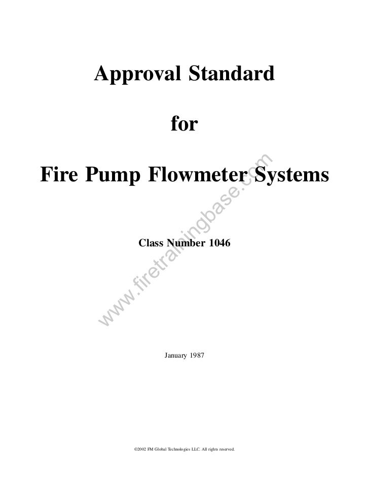 Approval Standard                             for                                                              omFire Pump...
