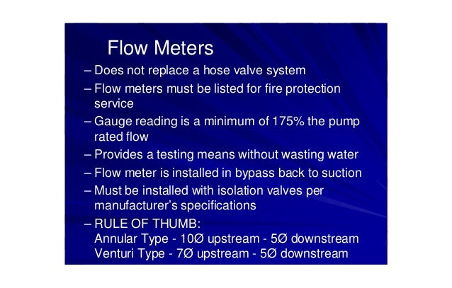 Nfpa20 standard for the installation of stationary pumps for