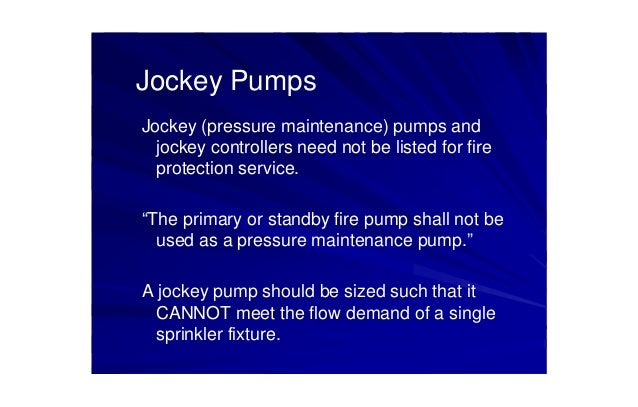 Nfpa20 standard for the installation of stationary pumps for fire pro – Jockey Pump Wiring Diagram