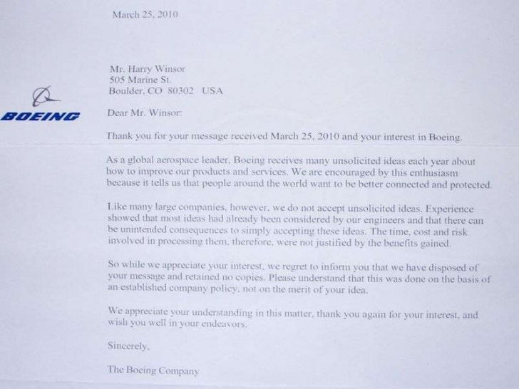 Cover Letter For Boeing