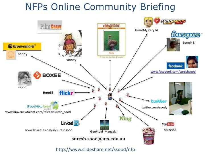 NFPs Online Community Briefing <br />GreatMystery14<br />Suresh S.<br />soody<br />soody<br />www.facebook.com/sureshsood<...