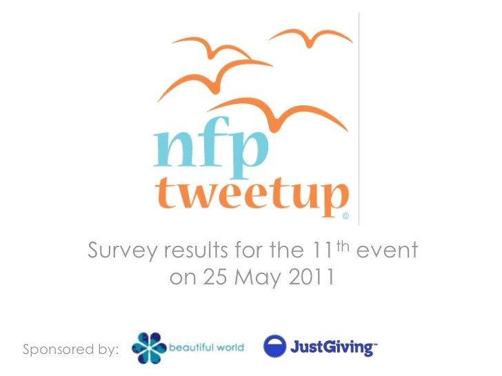 Survey results for the 11th event on 25 May 2011<br />Sponsored by:<br />