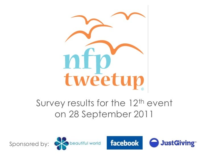 Survey results for the 12thevent on 28 September 2011<br />Sponsored by:<br />