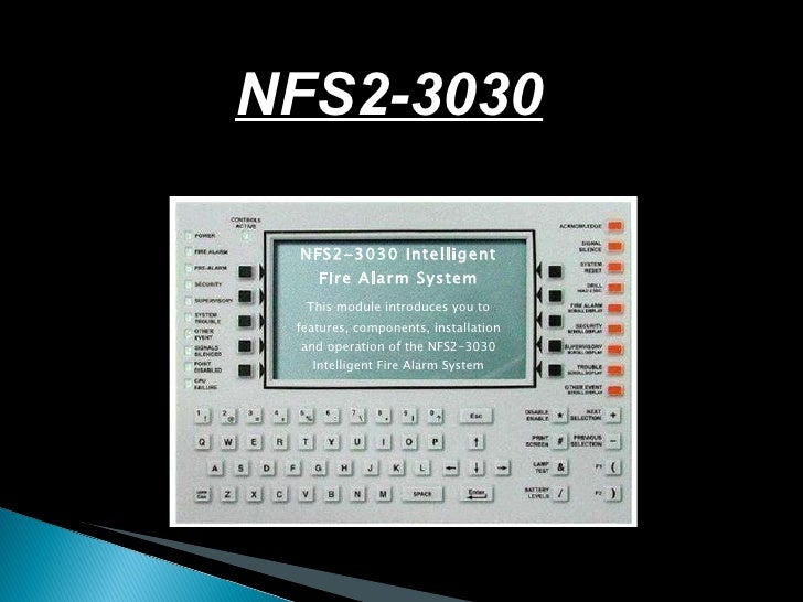 Nfs 3030 Programing Manual