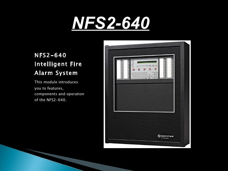 Notifier nfs2 640 installation manual