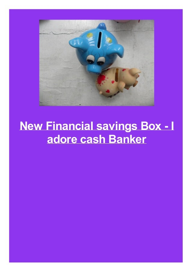 New Financial savings Box - I adore cash Banker