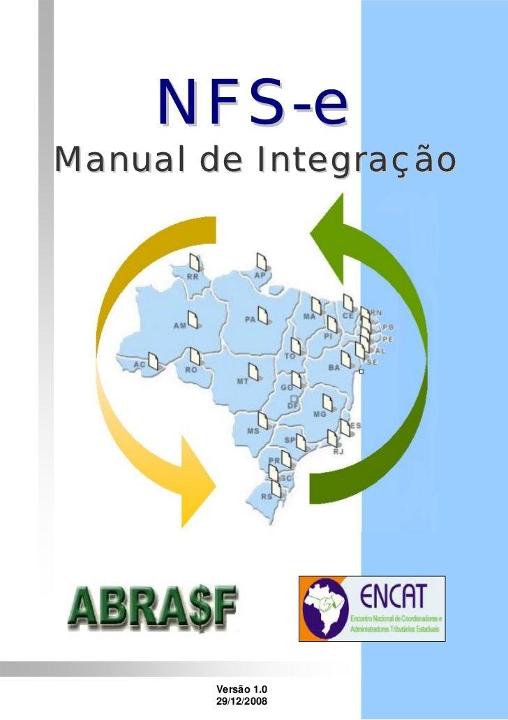 NFS-eManual de Integração       Versão 1.0       29/12/2008