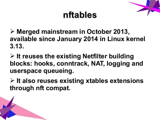 nftables - the evolution of Linux Firewall