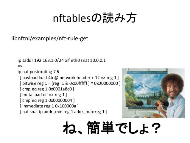 "nftablesにルールを書きたい! nl = mnl_socket_open(NETLINK_NETFILTER); if (mnl_socket_bind(nl, 0, MNL_SOCKET_AUTOPID) < 0) { perror(""..."