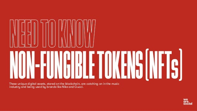 NEEDTOKNOW NON-FUNGIBLETOKENS(NFTs) These unique digital assets, stored on the blockchain, are catching on in the music in...