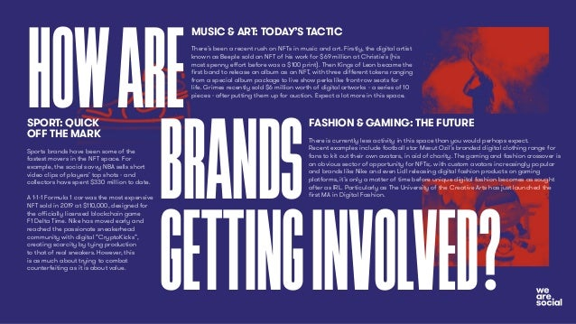 HOWARE BRANDS GETTINGINVOLVED? FASHION & GAMING: THE FUTURE There is currently less activity in this space than you would ...