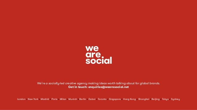 We're a socially-led creative agency making ideas worth talking about for global brands. Get in touch: enquiries@wearesoci...
