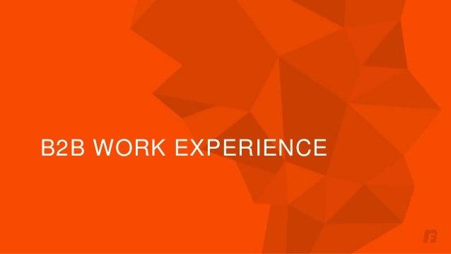 B2B WORK EXPERIENCE