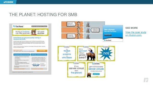 THE PLANET: HOSTING FOR SMB  SEE MORE  View the case study  on nfusion.com.