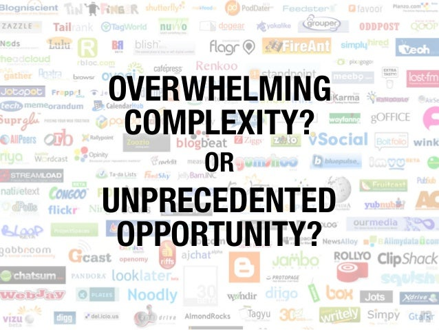 OVERWHELMING COMPLEXITY? OR UNPRECEDENTED OPPORTUNITY?