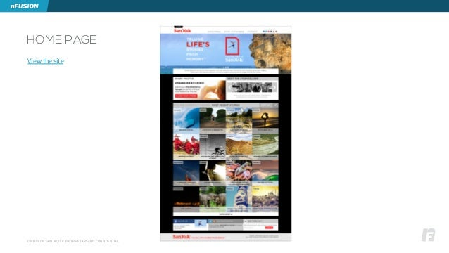© NFUSION GROUP, LLC. PROPRIETARY AND CONFIDENTIAL. HOME PAGE View the site