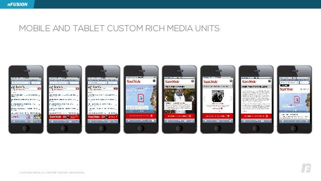 © NFUSION GROUP, LLC. PROPRIETARY AND CONFIDENTIAL. MOBILE AND TABLET CUSTOM RICH MEDIA UNITS