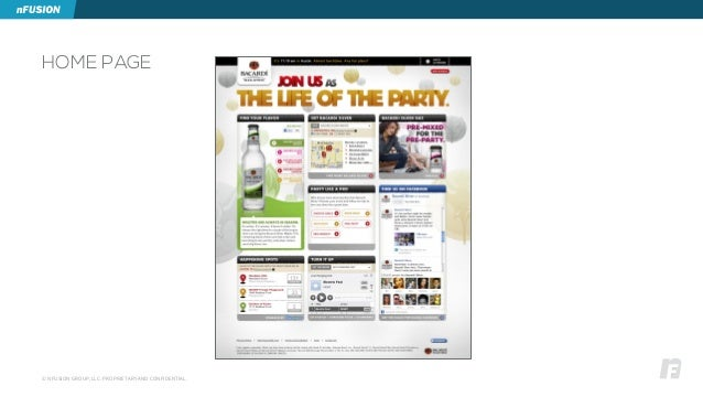 © NFUSION GROUP, LLC. PROPRIETARY AND CONFIDENTIAL. HOME PAGE