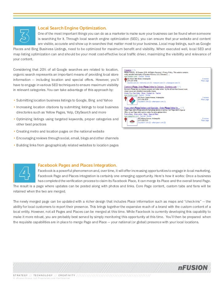 Local Search Engine Optimization.      3         One of the most important things you can do as a marketer is make sure yo...