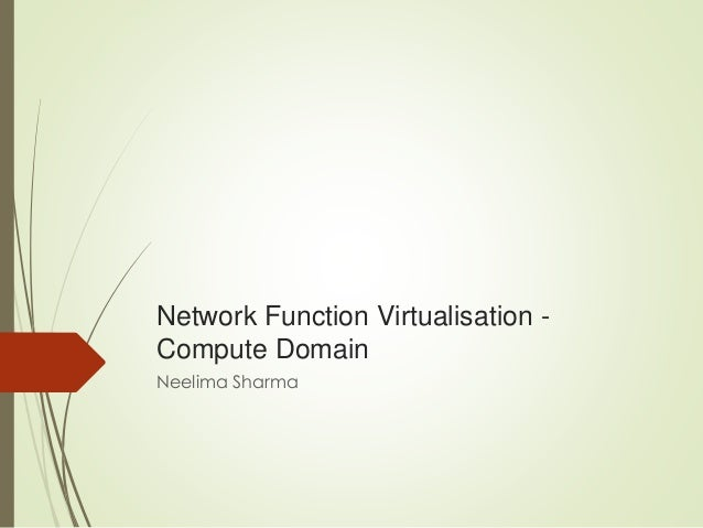Nfv compute domain