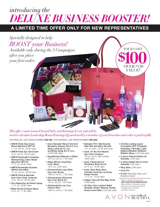 Exclusively for New Avon Representatives: Deluxe Business Booster
