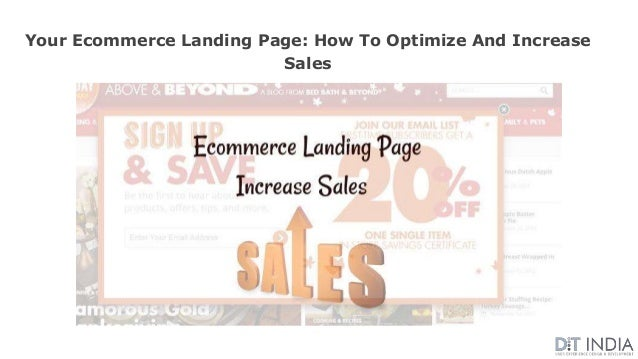 Your Ecommerce Landing Page: How To Optimize And Increase Sales