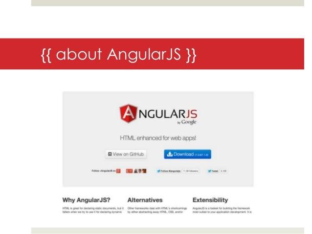 {{ about AngularJS }}