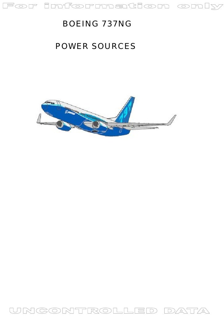 BOEING 737NG  POWER SOURCES