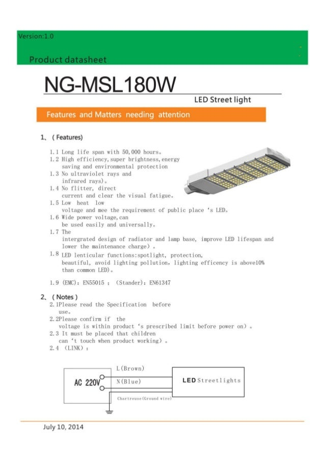 180W LED Street Light -www.ngtlight.com