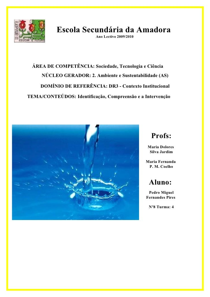 Escola Secundária da Amadora                            Ano Lectivo 2009/2010       ÁREA DE COMPETÊNCIA: Sociedade, Tecnol...