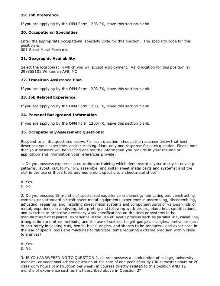 NG753725 (Sheet Metal Mechanic (Aircraft) (2 vacancies) WG-10, White…