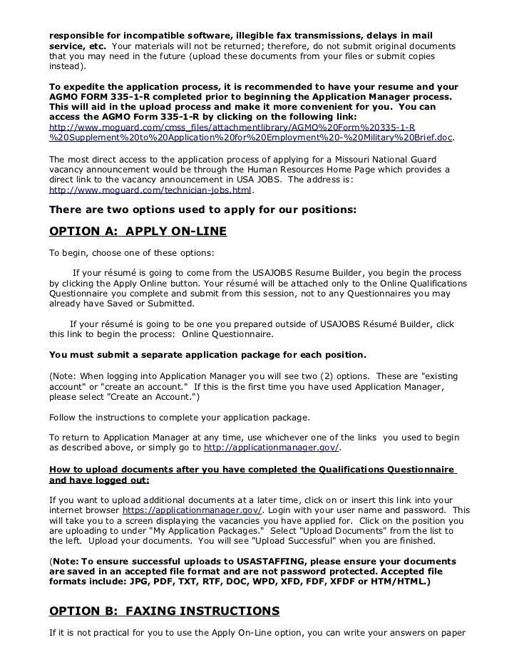 Army resume builder usajobs – Usajobs.gov Resume Builder