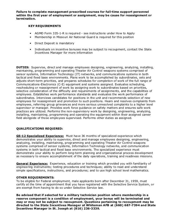 NG755223 (Supervisory Electronics Technician (Radar/Communication) G…
