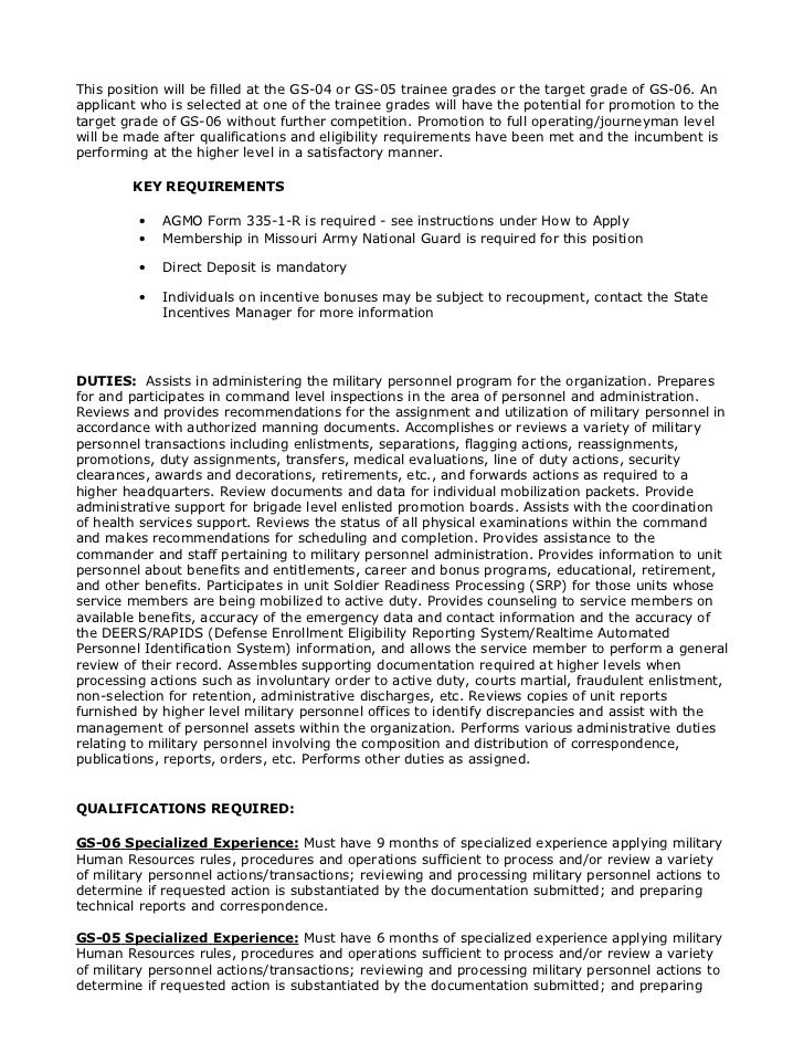 NG755563 (Human Resources Assistant (Military) GS-04/05/06, Sedalia,…