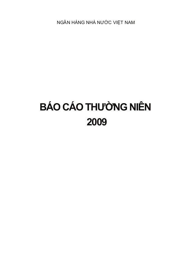 NGÂN HÀNG NHÀ NƯỚC VIỆT NAMBÁO CÁO THƯỜNG NIÊN            2009