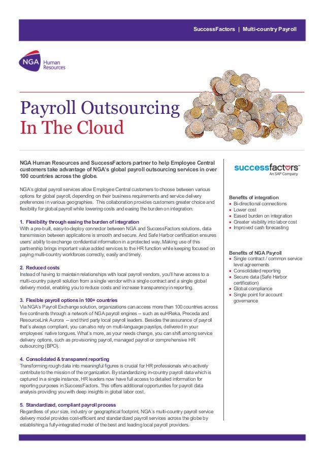 SuccessFactors | Multi-country Payroll  Payroll Outsourcing In The Cloud NGA Human Resources and SuccessFactors partner to...