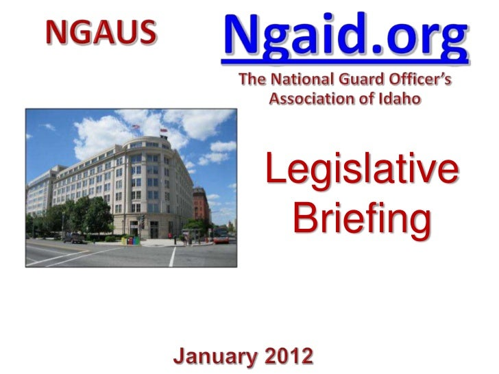 Legislative Briefing