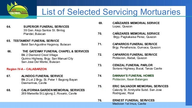 San Fernando Funeral Homes Batangas City