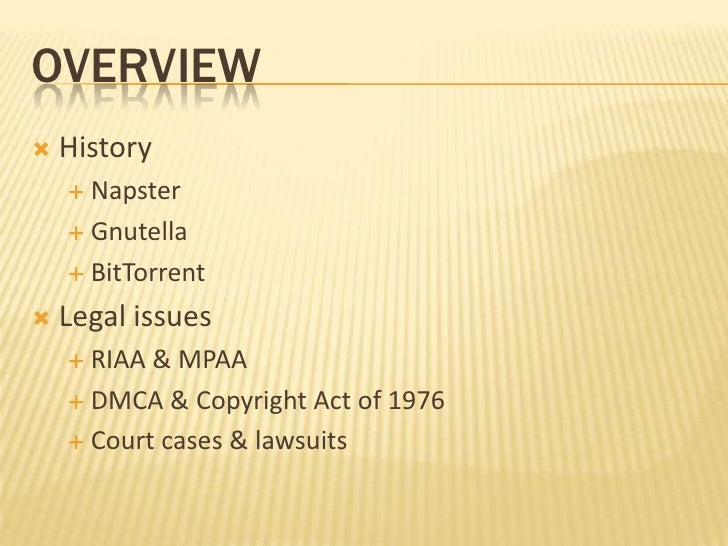facts about the napster software A & m records, inc v napster, inc, 114 f supp2d 896 these functions are made possible by napster's musicshare software, available free of charge from napster's internet site, and napster's network servers and server-side software napster.